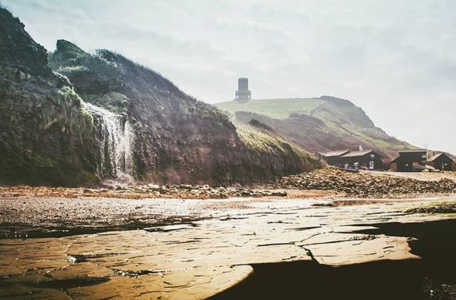 A really unusual perspective of Kimmeridge and Clavell Tower by @horlock_ig 👏 . . . #jurassiccoast #kimmeridge